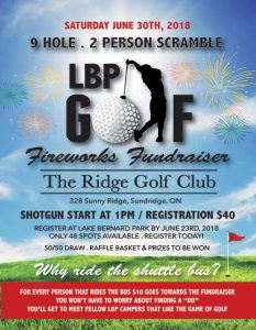 Lake Bernard Park Golf Fundraiser